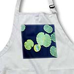 click on Green Lily Pads Float On Dark Blue Water to enlarge!