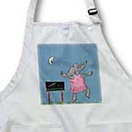 click on Colorful fun Cartoon elephant dancing under the stars with a smiling moon to enlarge!
