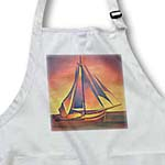 click on Sienna Sails at Sunset - boats, contemporary, hiddeboomsma, ochre, sailboat, sails, seascape to enlarge!