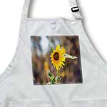 click on Wind Blowing on Yellow Sunflower with a Brown Textured Center to enlarge!