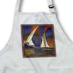 click on Happy Fathers Day- blue, boats, impressionism, orange, fathers day, sailboat, sails to enlarge!