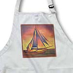 click on Sienna Sails at Sunset- boats, contemporary, hiddeboomsma, ochre, sailboat, sails, seascape to enlarge!