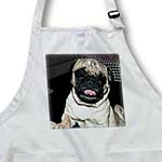 click on Cute Funny Looking Pug Pet Dog with its Tongue out in Tan and Black to enlarge!
