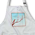 click on Bird On Cherry Blossom With Daisy Border to enlarge!
