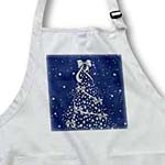 click on Blue and Silver Christmas Tree with Snow to enlarge!