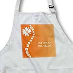 click on Live Life To Fullest With Daisies On Orange to enlarge!