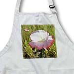 click on Spring Poppy Flower - Pink and White Floral - Art to enlarge!