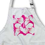 click on Pink and White Hawaiian Hibiscus Flowers - Floral Print - Tropical Art to enlarge!