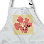 click on Peach Hibiscus Aloha Flower - Floral Print - Tropical Art - Hawaiian to enlarge!