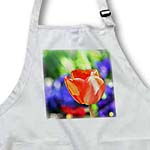 click on Red Tulip Floral Art - Flowers - Spring to enlarge!