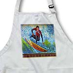click on Mosaic surfing digital art surfer and surfboard to enlarge!