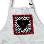 click on Zebra Print With Red Border Black Heart n Red A to enlarge!