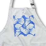 click on White and Blue Hibiscus Floral - Hawaiian Flowers - Art to enlarge!