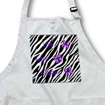 click on Zebra Print With 3 Purple Butterflies to enlarge!