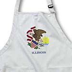click on State Flag of Illinois (PD-US) to enlarge!