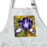 click on Purple Iris with Orange Flowers in a Spring Garden - Floral Print to enlarge!