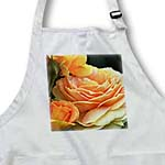 click on Romantic Peach Roses in a Garden - Floral Print - Flowers to enlarge!
