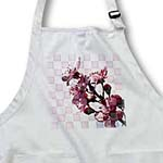 click on Pink Checkered Cherry Blossom Floral Print - Flowers to enlarge!