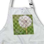 click on Wish Green Checkered Dandelion Flower - Floral Print - Inspirational to enlarge!