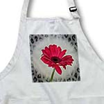 click on Red Gerbera Flower with Animal Print Frame - Floral Print to enlarge!