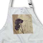 click on Lavender and Beige - Whimsical Floral Print - Flowers to enlarge!