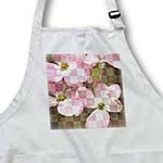 click on Checkered Pink Dogwood Flowers - Floral Print to enlarge!