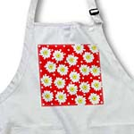 click on White and Red Polka Dots and Flowers - Whimsical Art to enlarge!