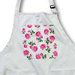 click on Girly Hot Pink Roses Floral Pattern on White to enlarge!