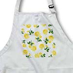 click on Floral Country Cottage Spring Yellow Buttercup Roses on White to enlarge!