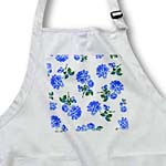click on Country Cottage Chic Dark Blue Roses Floral Pattern on Fresh White to enlarge!