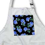 click on Elegant and Stylish Dark Blue Roses Floral Pattern on Sleek classy Black to enlarge!