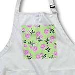 click on Sweet Pink and Green Girly Rose Floral Pattern to enlarge!