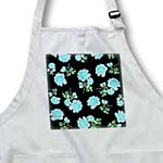 click on Pale Blue Rose Flower Blossoms on ladylike elegant black to enlarge!