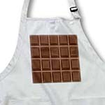 click on Funny Dark Chocolate Bar Squares Design for chocoholics sweet tooths and chocolate lovers to enlarge!