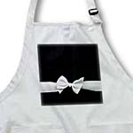 click on Elegant and Classy White Ribbon Bow on Sleek Stylish Black - Womens Retro Fashion Style to enlarge!