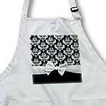 click on Black and White Damask pattern with elegant and classy white ribbon bow for stylish women to enlarge!