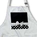 click on Retro chic black and white polka dots and white ribbon bow - 50s classic elegance to enlarge!