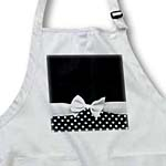 click on Cute fifties style black and white polka dot pattern with elegant sophisticated white ribbon bow to enlarge!