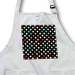 click on Colorful Polka dot pattern on black - Rainbow Multicolor Cute Dots and Spots Patterns to enlarge!