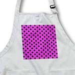 click on Black Polka Dots on Girly Hot Pink - Classic Retro 1950s Stylish Spots Pattern to enlarge!