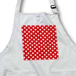 click on White Polka Dots on Red - Classic Retro 50s style cute spots pattern to enlarge!