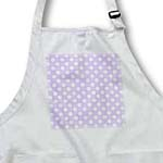 click on White Polka Dot Pattern on Lilac Purple - Retro vintage style girly dots to enlarge!