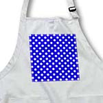 click on White Polka Dots on Dark Bright Blue - Retro 50s stylish dot pattern to enlarge!