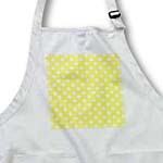 click on White Polka Dots on Bright Sunny Yellow - Retro fifties dot pattern to enlarge!