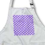 click on White Polka Dots on Purple - Retro 50s cute and girly dot pattern to enlarge!