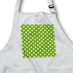 click on White Polka Dots on Green - Retro 1950s vintage style dot pattern to enlarge!