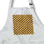 click on White Polka Dots on Chocolate Brown - Retro elegant ladylike dot pattern to enlarge!