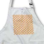 click on White Polka Dots on Orange - Retro 50s style dot pattern to enlarge!
