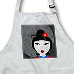 click on Cute Geisha Girl with Umbrella - Red and Blue to enlarge!