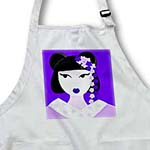 click on Cute Geisha Girl with Flowers - Purple to enlarge!